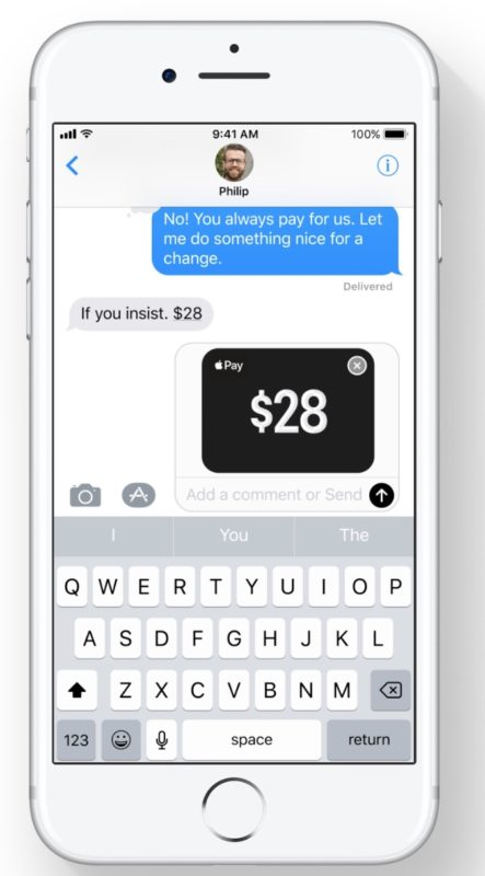 Apple Pay person-to-person payments