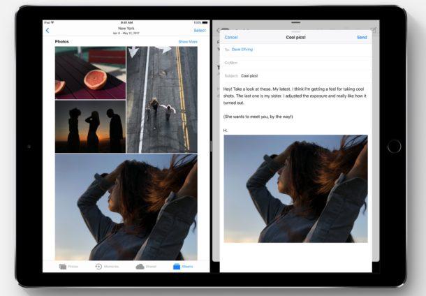 iOS 11 drag and drop on iPad