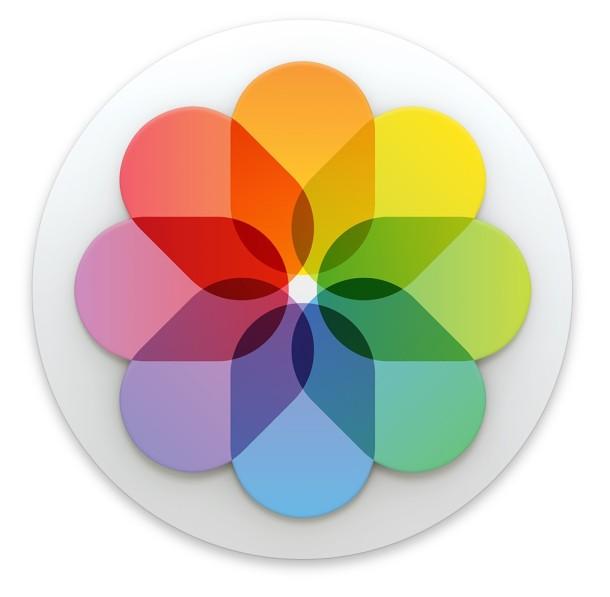 Photos app icon in Mac OS X