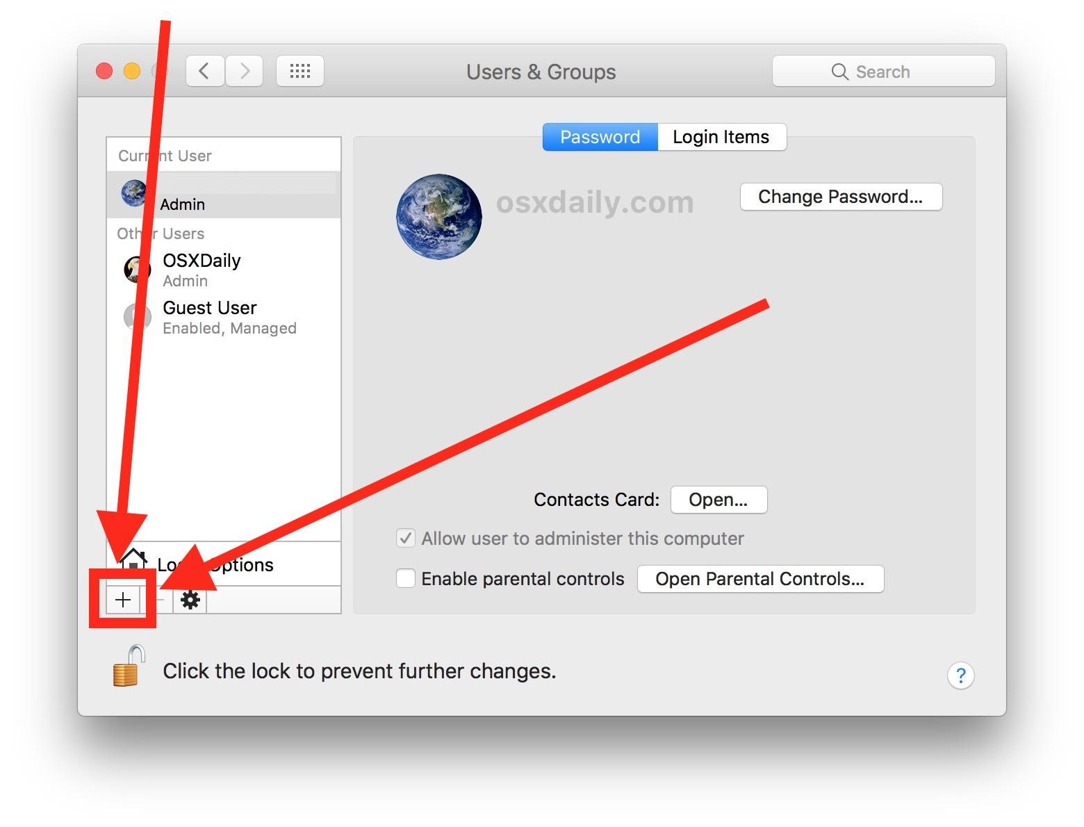 Create a new admin user account on the Mac