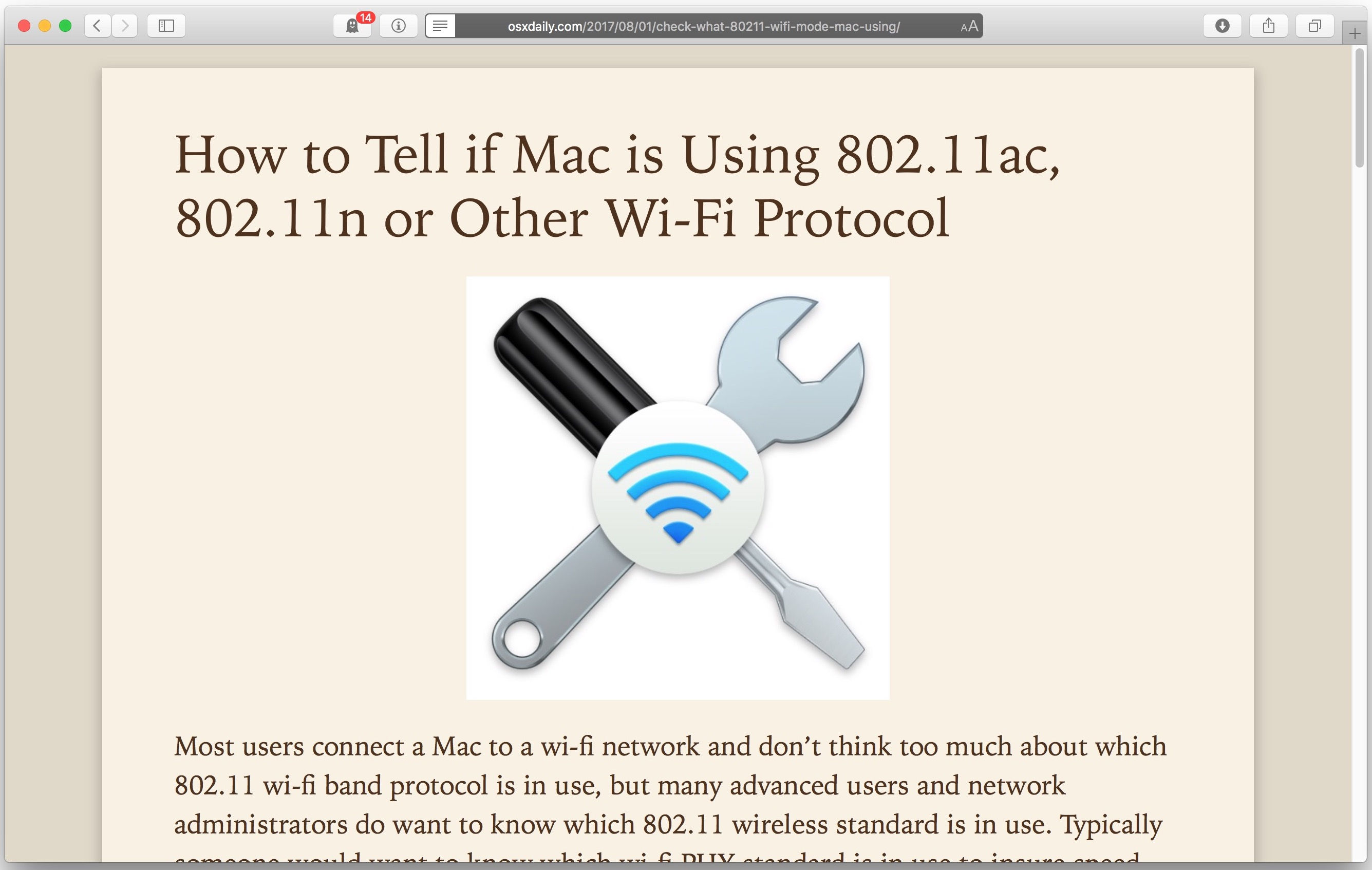 Print an article or web page in a simplified form without ads on Mac