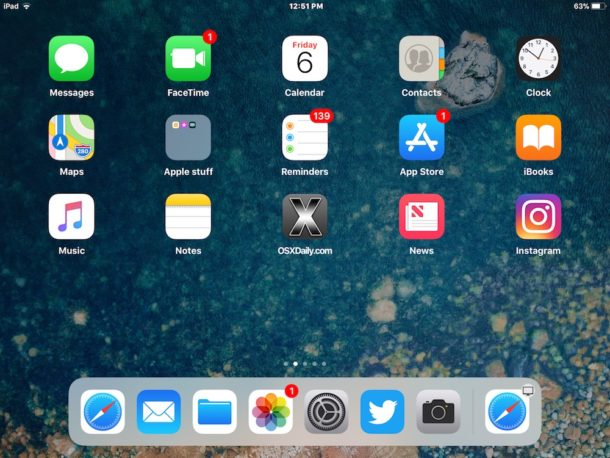 Recent apps disabled in iPad Dock