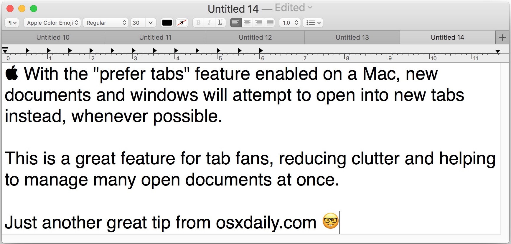 Set apps by tab preference on Mac