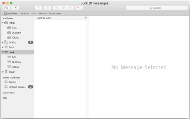 Empty the Junk Email folder in Mail for Mac