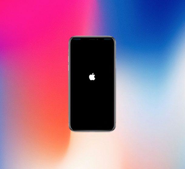 Force restart iPhone X