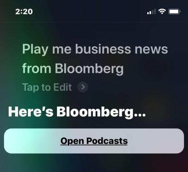 Play news from Siri