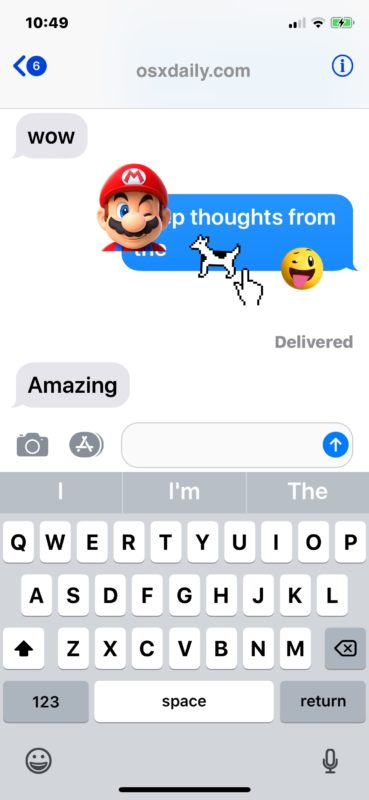 How to    remove stickers from iMessage conversations in iOS