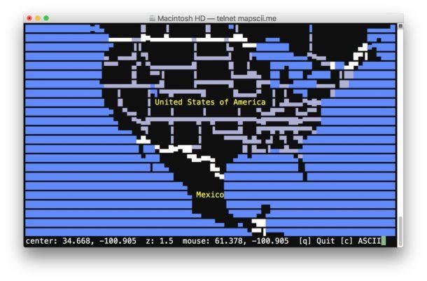 Ascii maps command line