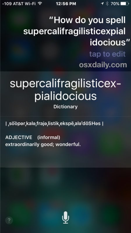 Ask Siri to spell a word on the iPhone