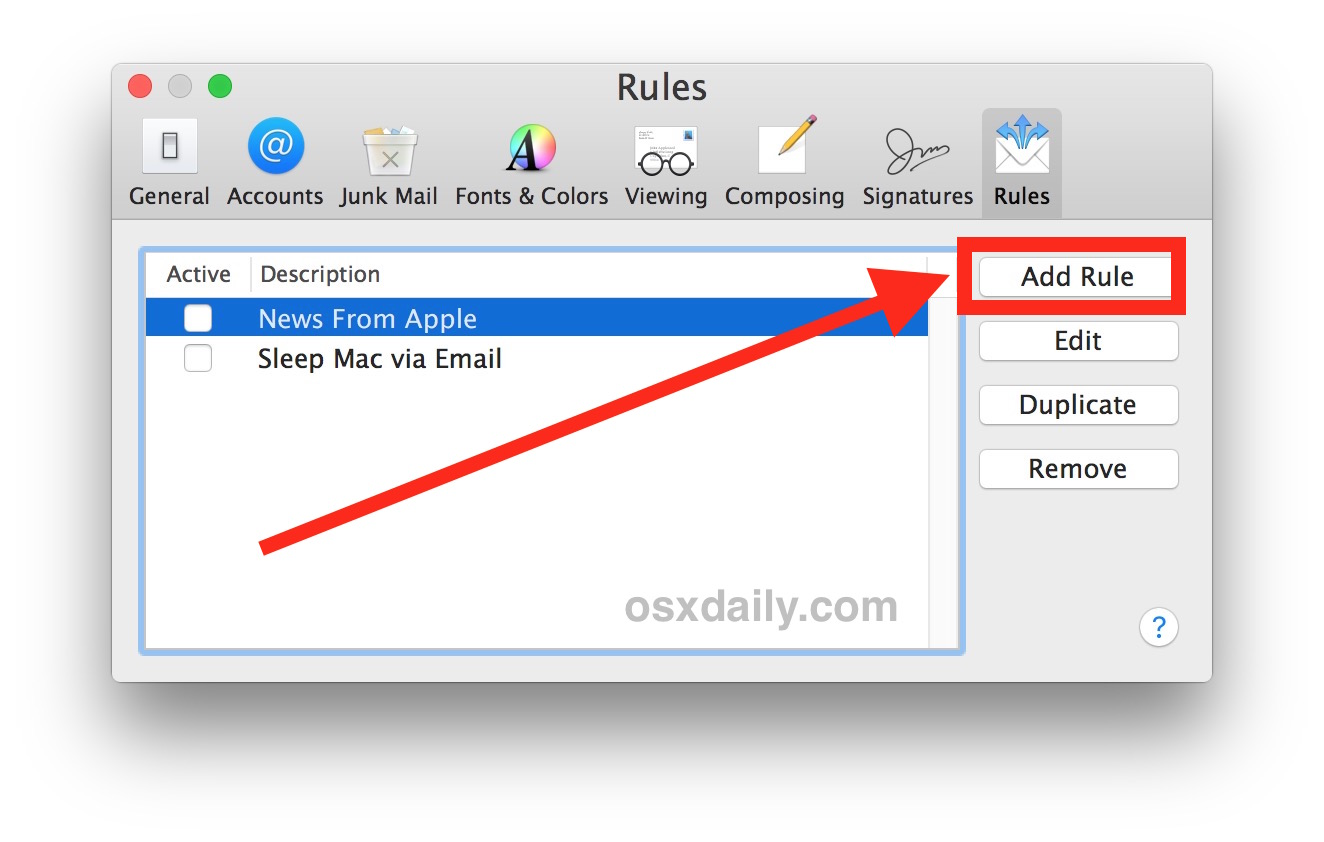 How to    create an email autoresponder in Mail for Mac