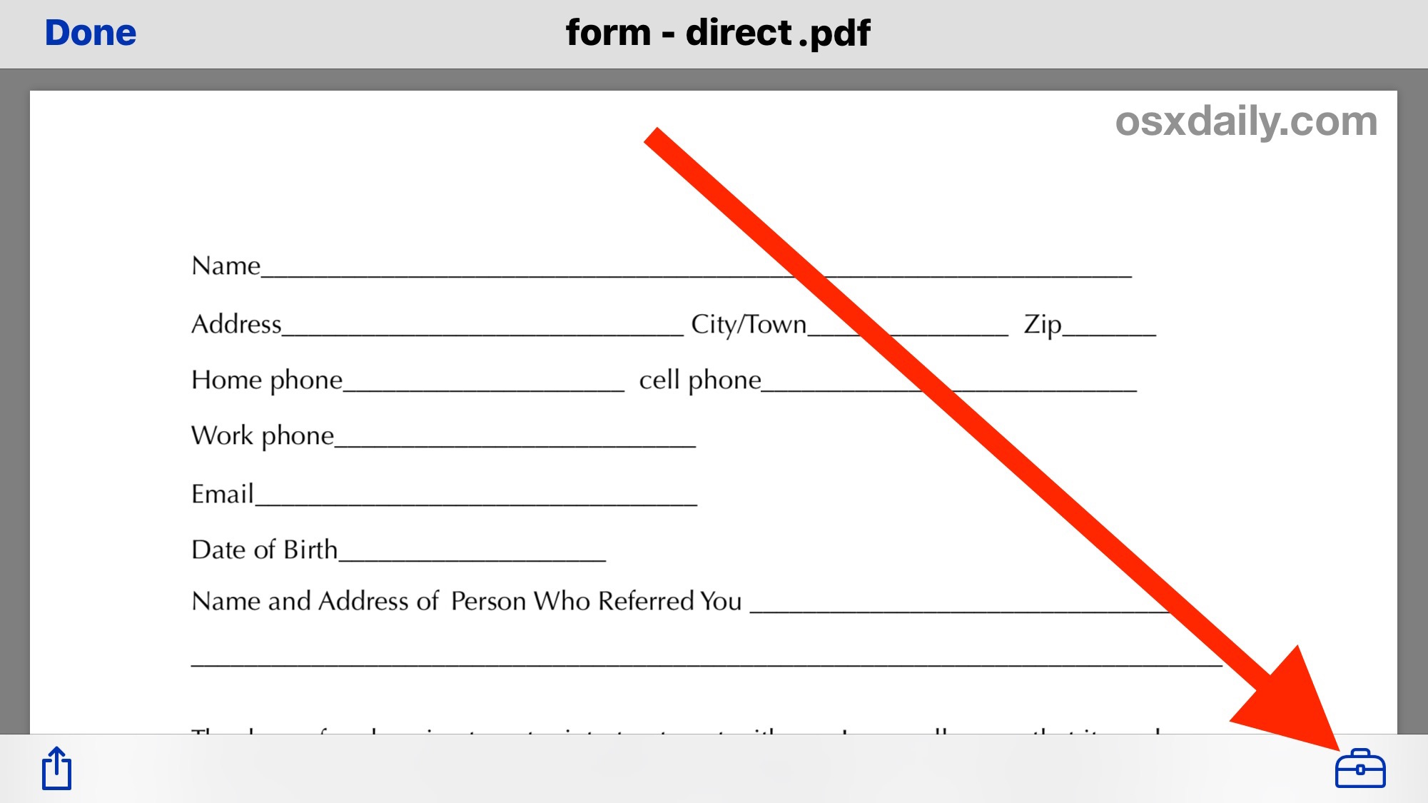 Fill out a PDF form and edit PDF from iPhone with Markup