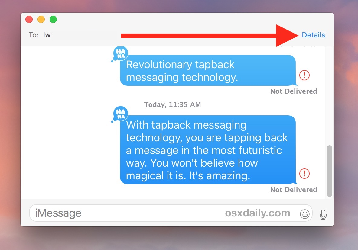 Send read receipts to a specific contact in Mac messages