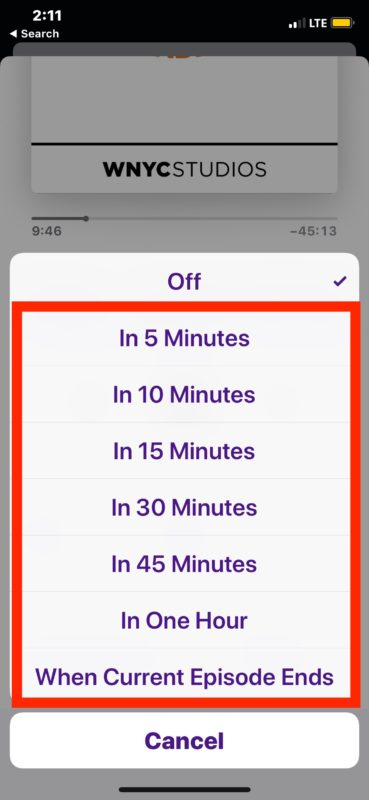 How to    set a sleep timer for Podcasts on iPhone