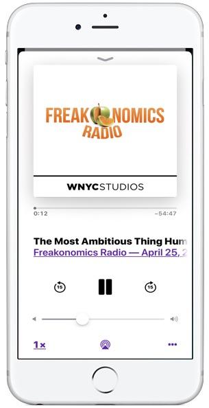 Sleep Timer for Podcasts app on iOS