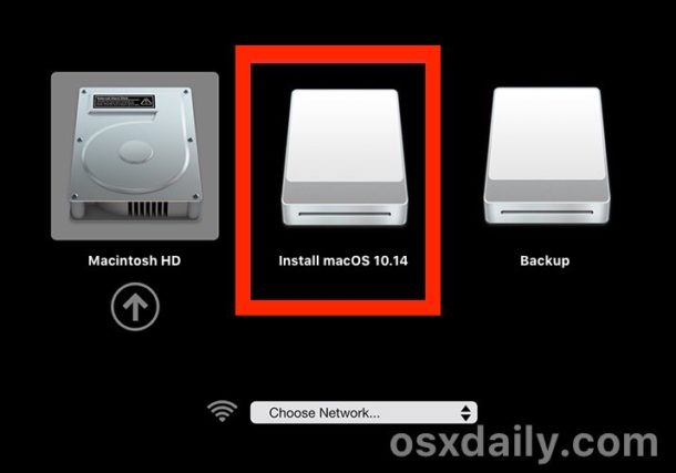Boot from macOS Mojave beta installer USB