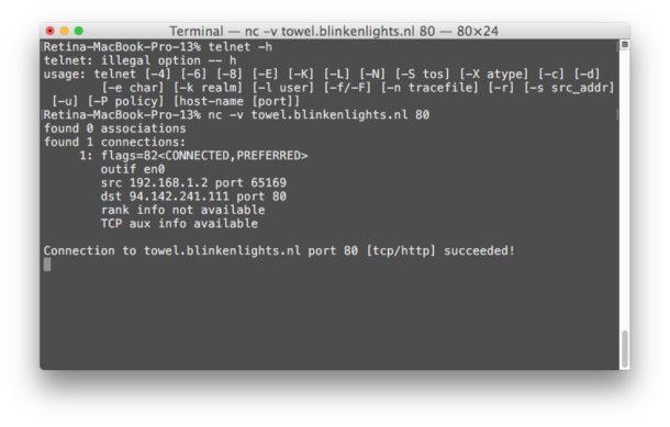 Netcat and telnet