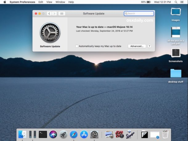 How to    update system software in macOS