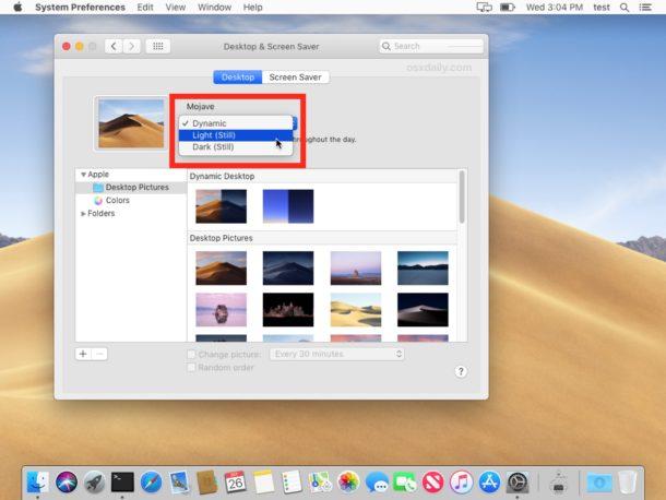 Adapt dynamic desktops to dynamic or stationary