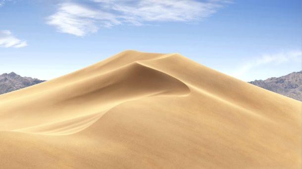 Bright dynamic desktop photo of desert wallpaper in Mojave