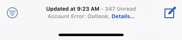 Fix Can't get email error iOS