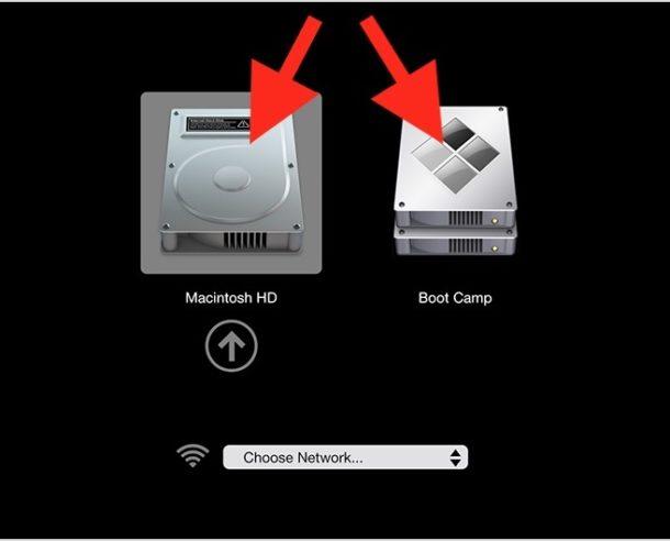 Start up Mac OS or Windows