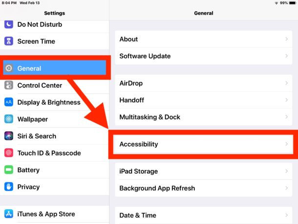 How to    Enable larger text size options on iPad