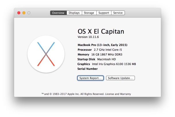 Check what version of Mac OS X is running on a Mac