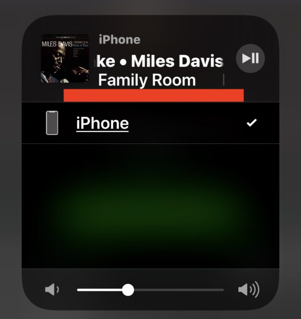 AirPlay audio from iPhone to Sonos despite Airplay audio source not showing in Control Center