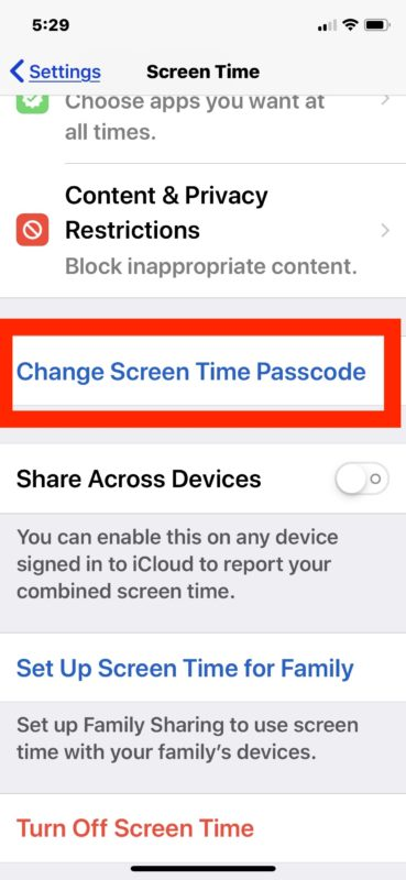 How to    turn off screen time password in iOS