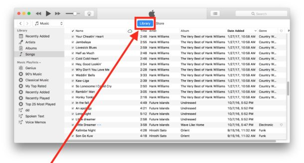 Access the iTunes library in iTunes