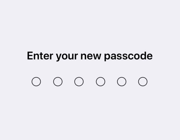 Change the passcode in iOS