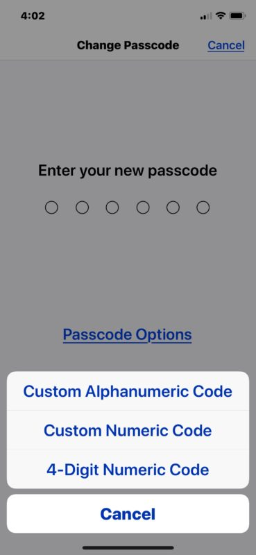 How to    change to password or password with different length on iPhone or iPad
