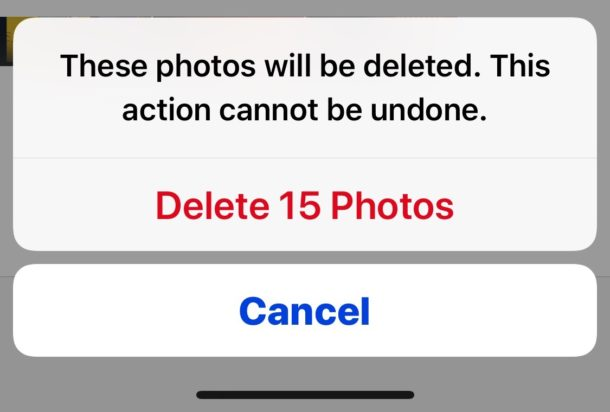Confirm to delete the recently deleted photos to clear the Photos storage