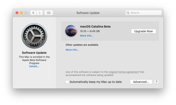 Download the MacOS Catalina public beta