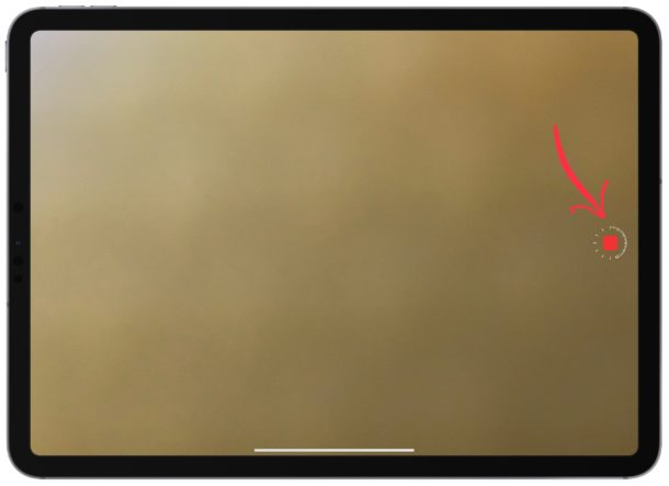 Stop recording the time-lapse video on the iPad