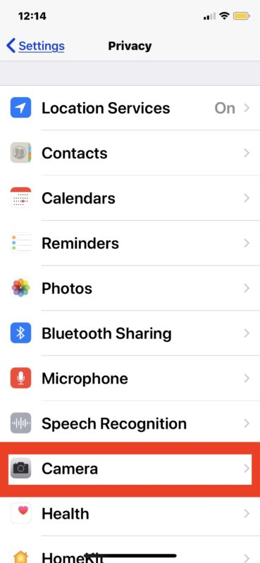 How to    Switch off camera access for apps on iPhone and iPad