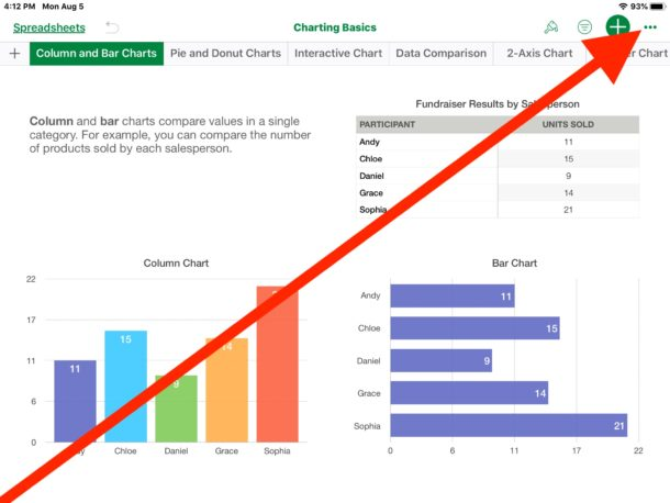 How to    convert Numbers files to Excel spreadsheet on iPad or iPhone