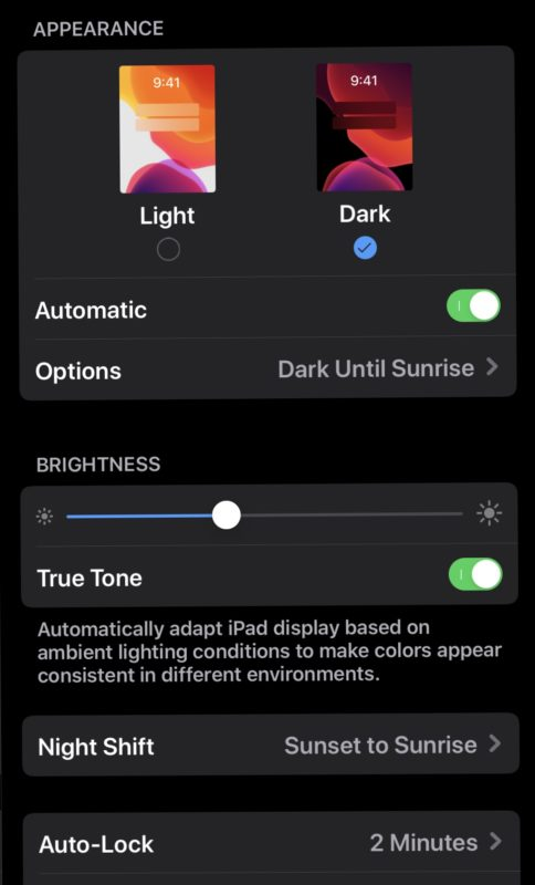 Dark mode in iOS 13