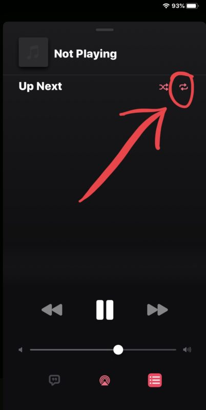 How to    repeat songs in Music for iOS 13