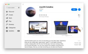 MacOS Catalina available for download and installation