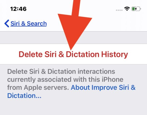 How to    Clear Siri and Dictation audio history