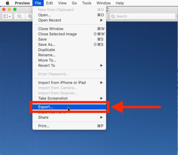 How to    convert HEIC to JPEG on Mac with Preview