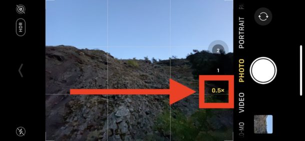 How to    enable ultra wide camera angle lens on iPhone Camera