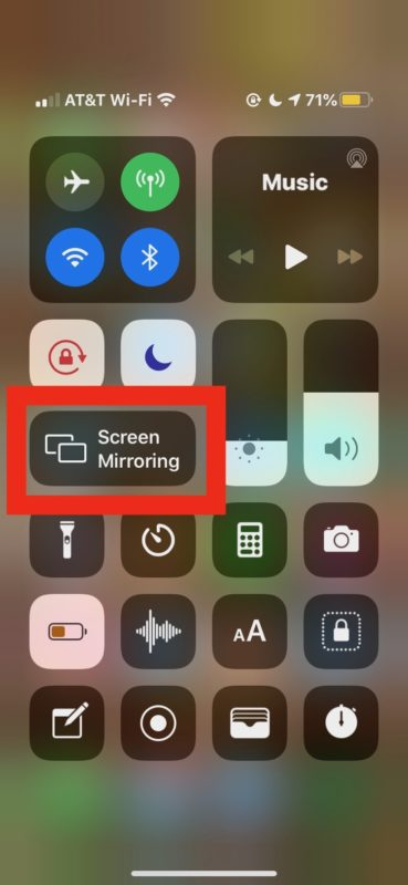 How to    use Screen Mirroring on iPhone or iPad to Apple TV