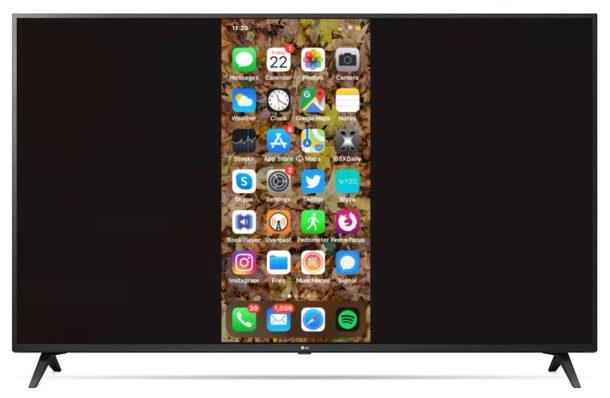 iPhone screen mirroring on Apple TV
