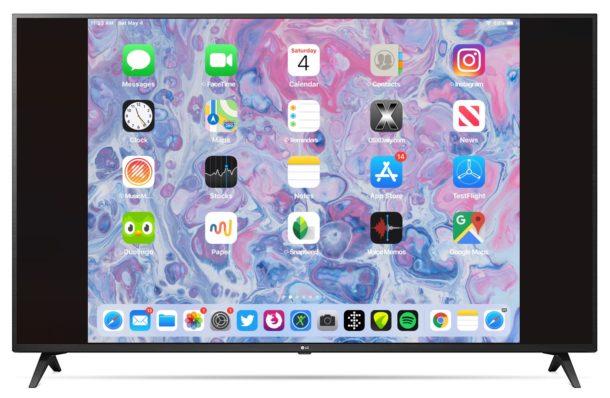 iPad screen mirroring on Apple TV