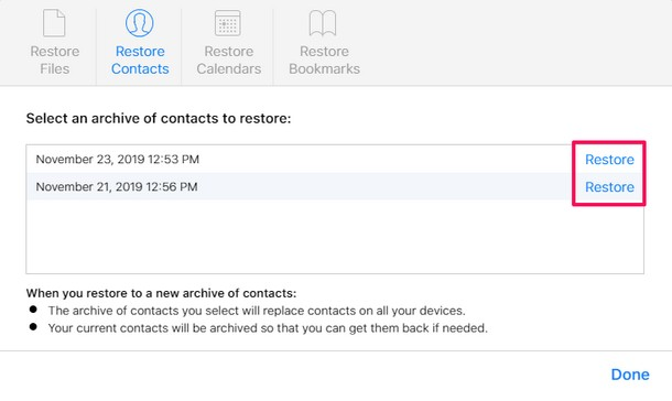 How to    Recover lost contacts from iCloud