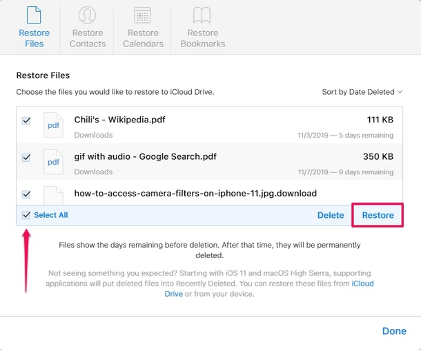 How to    Recover lost iCloud Drive documents and files