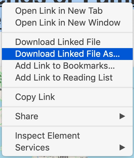 Download a linked PDF file from Safari on Mac