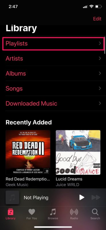How to    View your recently added songs in Apple Music